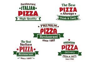 Italian pizza restaurant logo design
