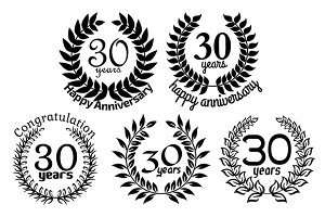Anniversary laurel wreaths 30 years