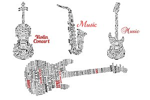 Word clouds and notes in instruments