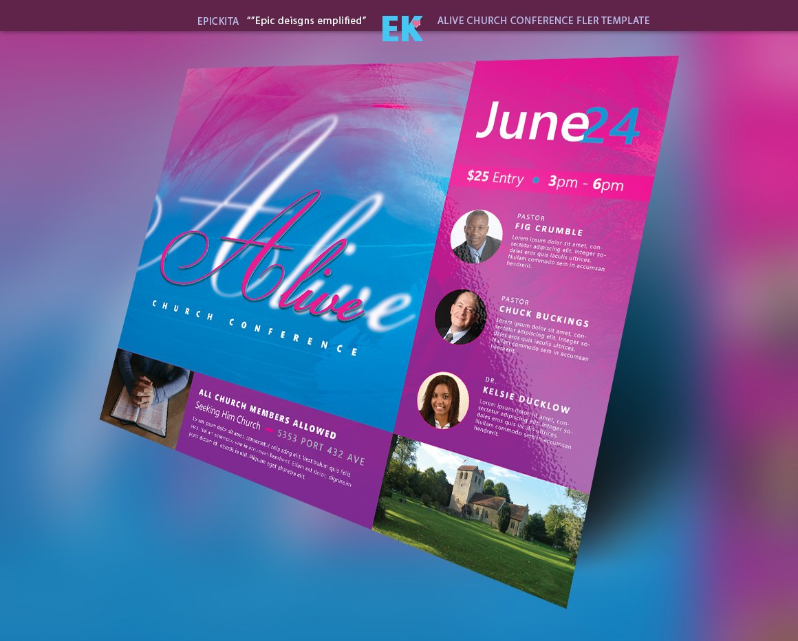 Alive Church Conference Flyer Flyer Templates Creative Market