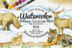 Watercolor Animal Vol.1 Plus