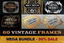60 Vintage Frame Templates
