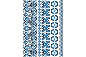Ethnic embroidery floral pattern