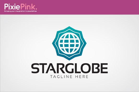 Star Globe Logo Template