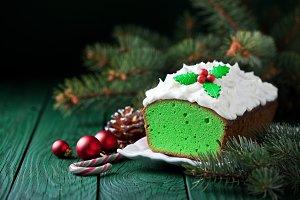 Christmas Matcha green tea cake
