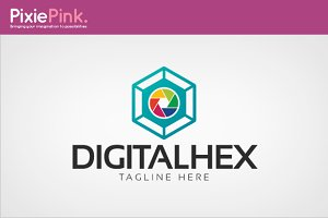 Digital Hex Logo Template