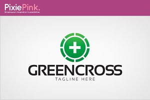 Green Cross Logo Template