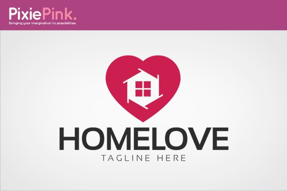 Home Love Logo Template