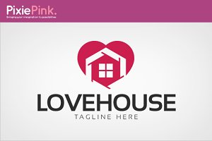 Love House Logo Template