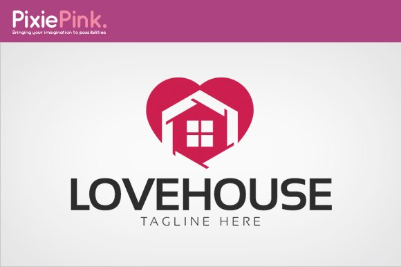 Love House Logo Template in Logo Templates