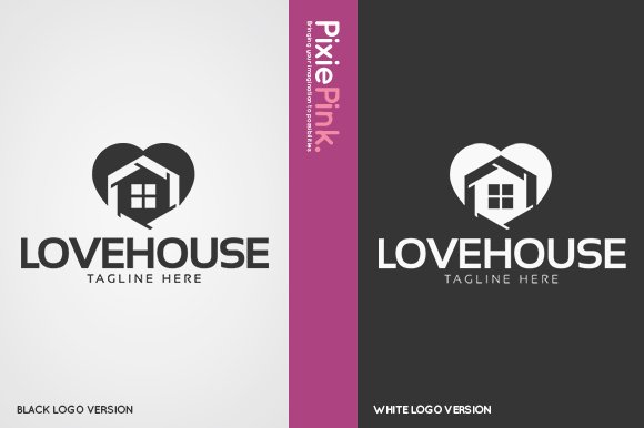 Love House Logo Template in Logo Templates - product preview 1