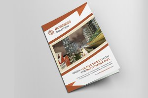 Corporate Business Bi Fold Brochure