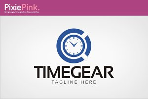 Time Gear Logo Template