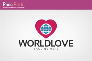 World Love Logo Template