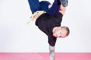 Man dancing capoeira