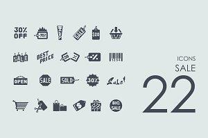 22 sale icons