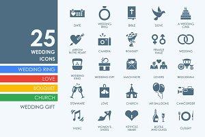 25 wedding icons + BONUS