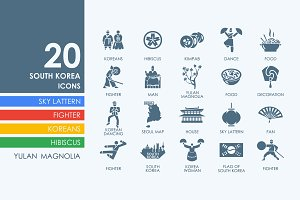 20 South Korea icons