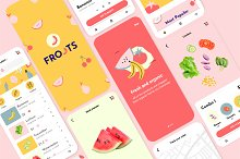 UI KIT FROOTS / Organic Store App by  in Websites