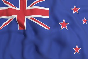 New Zealand flag waving