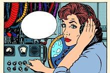Girl radio space communications