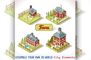 City Map Tiles Farm Elements