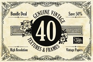 40 Decorative Textures and Frames