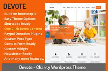 Devote - Chairty Wordpress Theme by  in Non-Profit