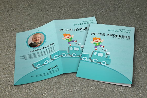 Child Funeral Program TemplateV318 Brochure Templates on – Child Funeral Program Template