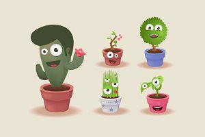 5 x Plant Characters