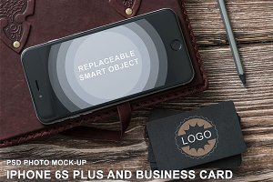 iPhone & B-Card Mockup