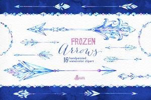 Frozen Arrows. Watercolor collection
