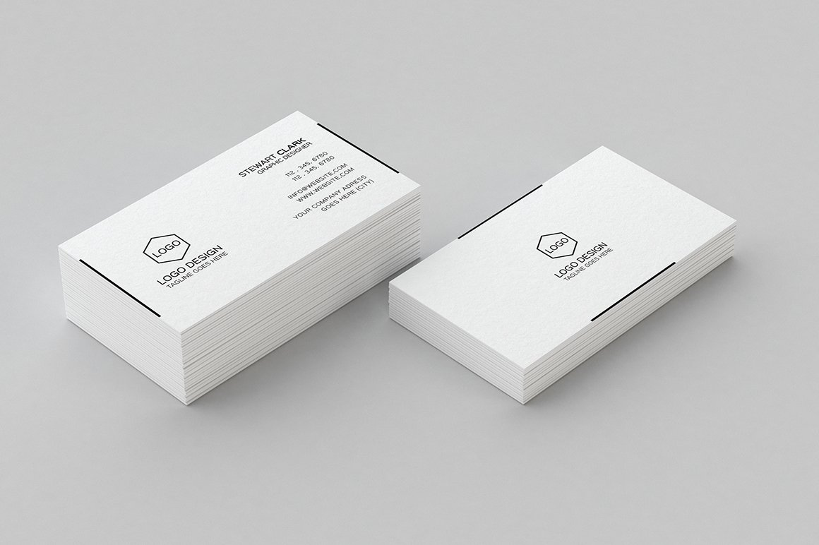 simple minimal business card design  business card