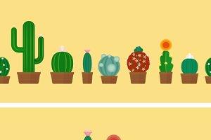Cactus horizontal background