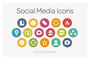 Circle Icons: Social Media