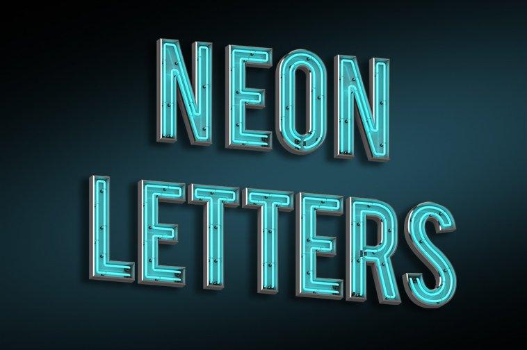 neon letters illustrations creative market