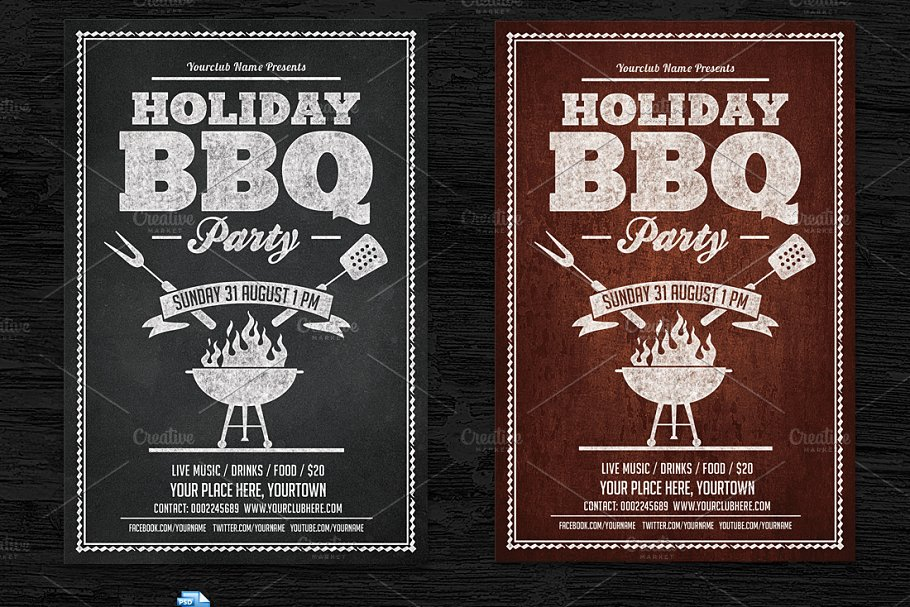 free bbq flyer template.html