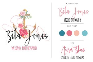 Watercolor Logo Branding Kit & Fonts