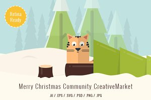 Christmas Illustrated Flat Icons