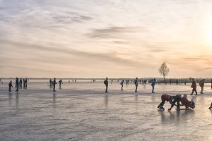 Skating at sunset