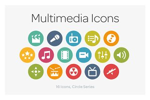 Circle Icons: Multimedia