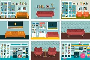 Flat interiors.