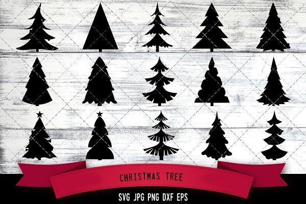 christmas tree silhouette vector pre designed illustrator graphics creative market christmas tree silhouette vector