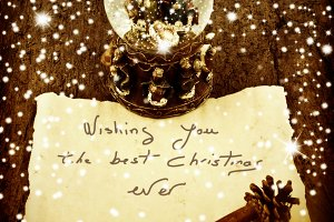 Postcard Christmas greetings