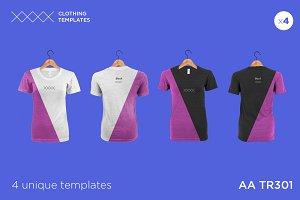 AA TR301 - Womens blank t-shirt set