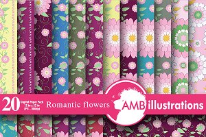 Romantic Floral Patterns AMB-327