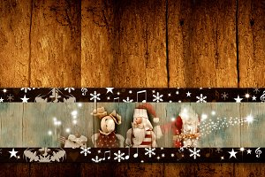 Christmas Santa Claus templates