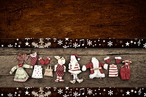 Christmas rustic templates