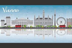 Vienna Skyline with Gray Buildings