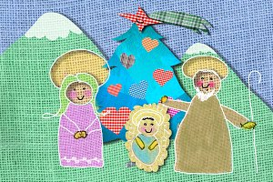 Nativity Scene Christmas card